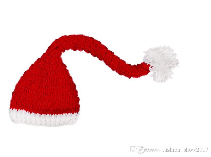 الوليد التصوير الدعائم الشتاء القبعات بنين بنات لطيف هدية الطفل بنات بنين طويل الذيل قبعة صوف قبعة عيد
