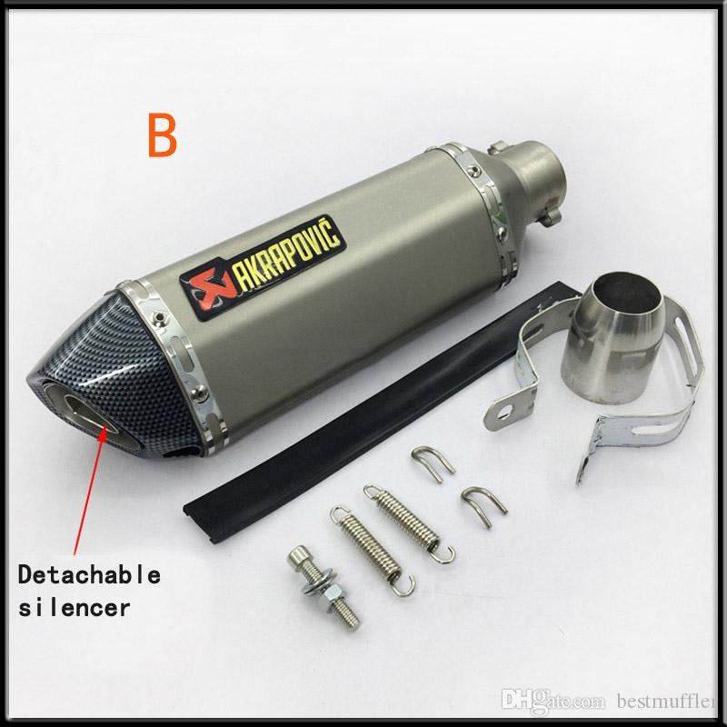 Akrapovic 38-51mm Universal Motorcycle Modified Scooter Exhaust Muffler Pipe Vent Pipe For GY6 CBR CBR125 CBR250 CB400 CB600 YZF FZ400
