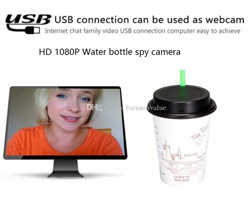 Night vision Water cup camera Full HD 1080P Motion Detetion Cup lid DVR MINI DV Home security CCTV camera Support TF Card