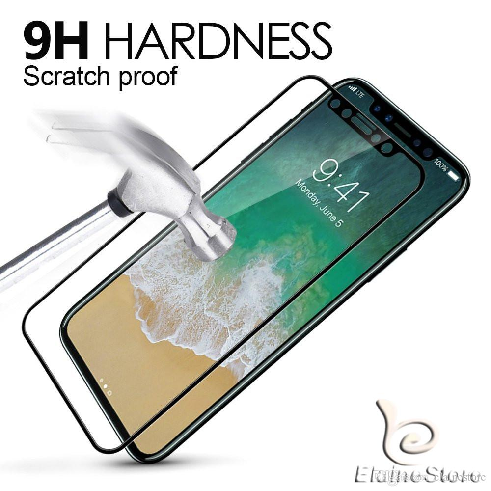 For iphoneXR XS XS Max X 8 7 6 Screen Protector Full Cover 3D tempered glass 3D Curved Edge 9H Hard Full Cover Protective Film with box