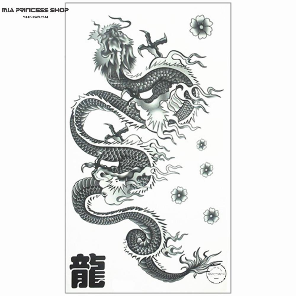 wholesale long chinese dragon temporary tattoo body art flash tattoo stickers 17 10cm waterproof. Black Bedroom Furniture Sets. Home Design Ideas