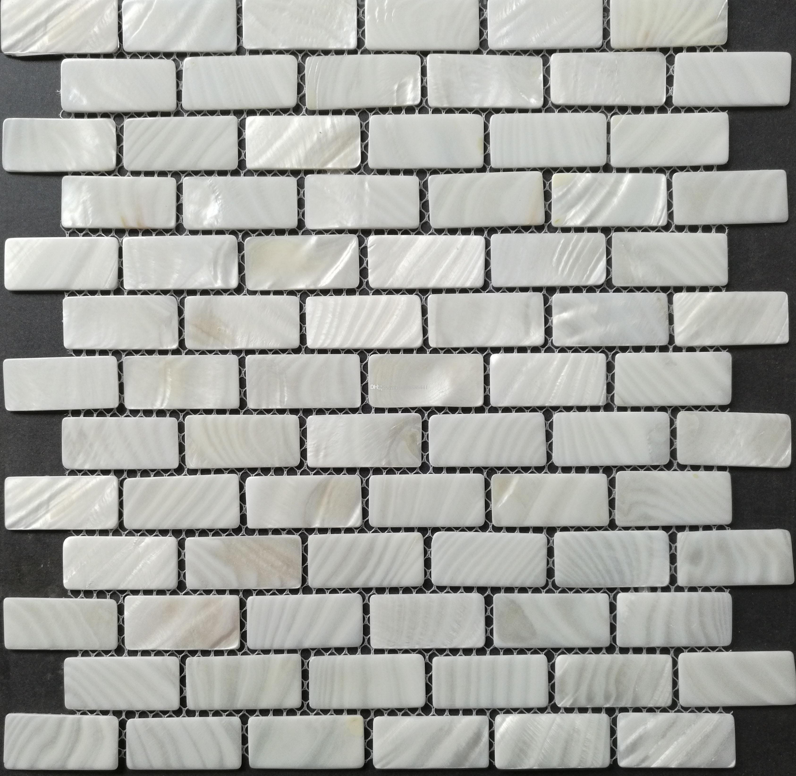 2019 New Item; BIG Shell Mosaic Tiles;White Brick Tiles;23*48*2 Natural  Color;Factory Direct Sale Decoration Material;Kitchen Backsplash Tiles From  ...