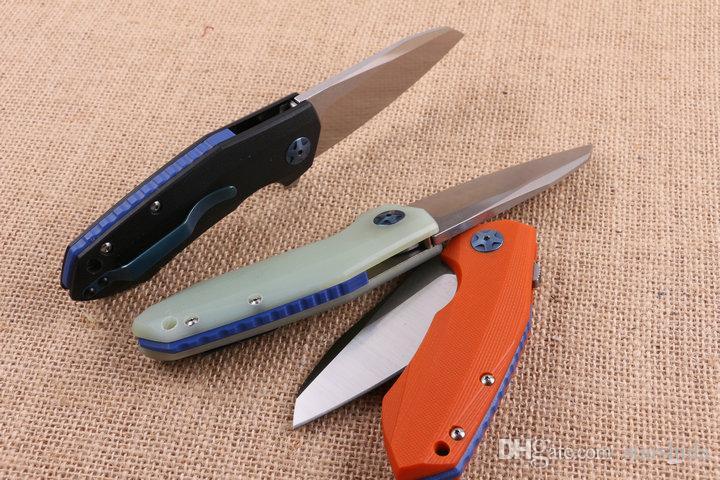 Zero Tolleranza ZT 0456 D2 Coltello Pieghevole Tattico G10 Caccia Pesca Sopravvivenza Coltello da Tasca Utility Militare EDC Cuscinetto a Sfera Flipper EDC