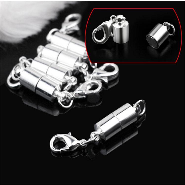Silber / Gold überzogene magnetische Magnet-Halsketten-Verschlüsse zylinderförmige Verschlüsse für Halskettenarmband Schmucksachen DIY