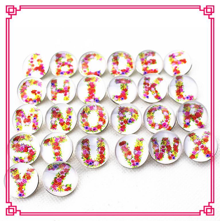 Горячий продавать 26 шт. / лот Mix A-Z письма snap кнопки DIY 18 мм Snap ожерелье BraceletBangles DIY Snap ювелирные изделия подвески