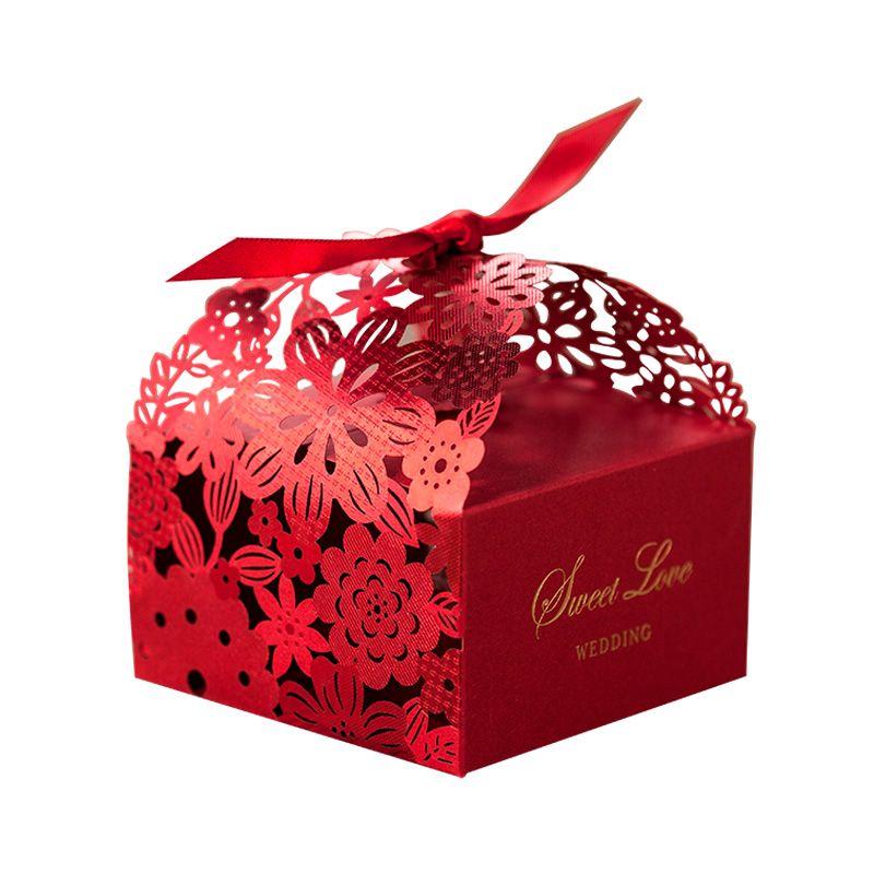 Hot Wedding Bomboniera Scatole Candy Box Party Favors Hollow Wedding Candy Box Favore Scatole di cioccolato Scatole di caramelle Borse dolci scatole