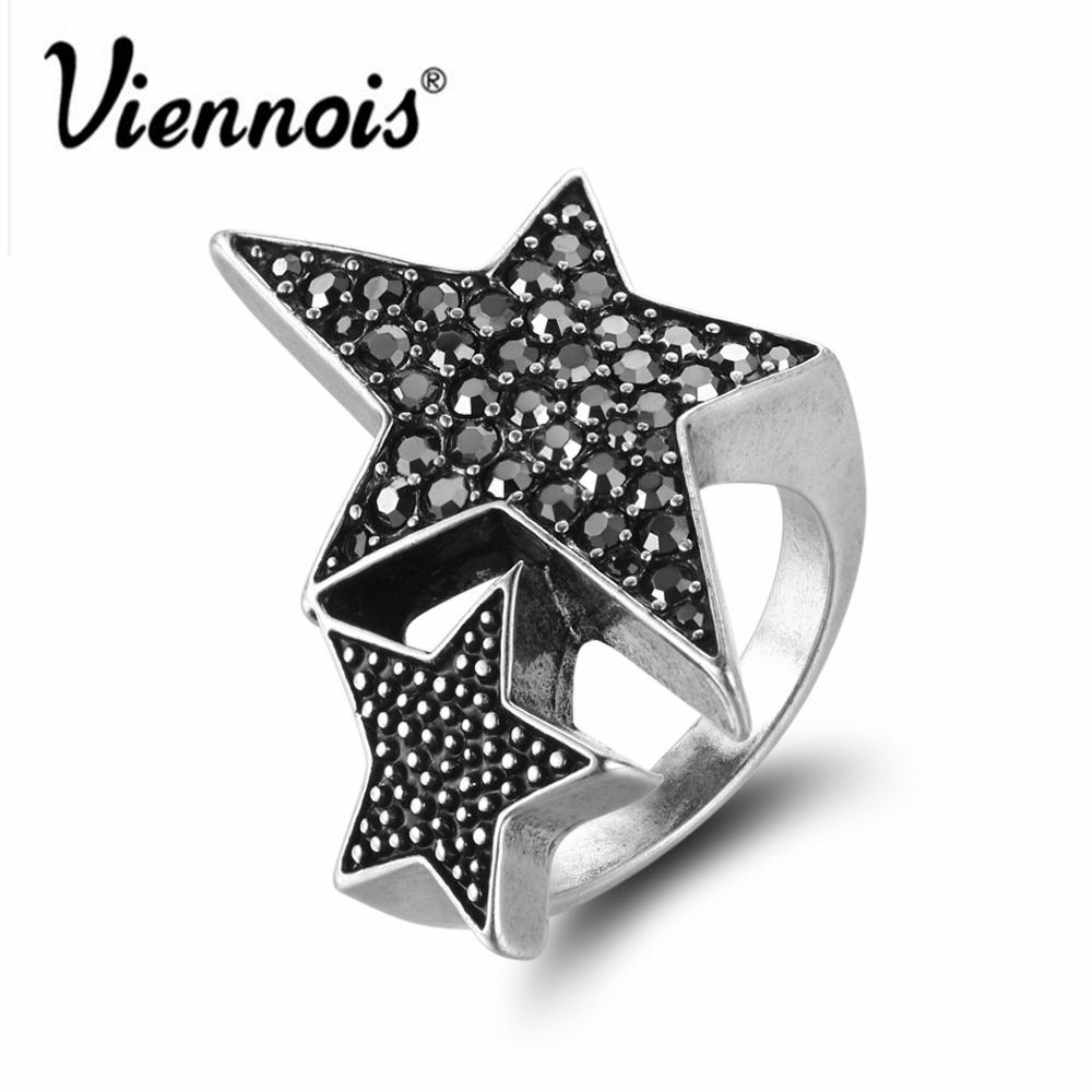 shiny rings stars silver ring star