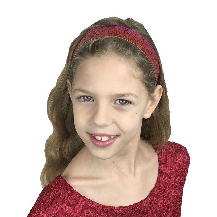 "3/4"" Glitter Headbands Elastic Stretch Sparkly Softball Headbands For Teenagers"