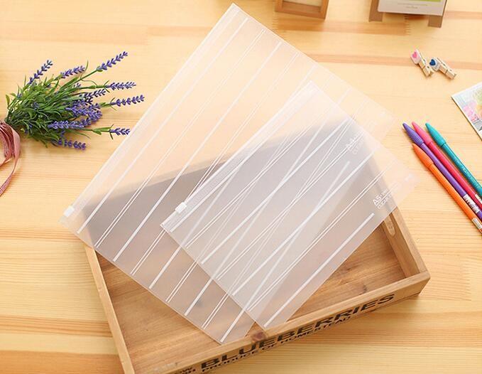 لطيف الكورية القرطاسية الايداع المنتجات لطيف ملف مجلدات بلاستيكية شفافة وثيقة حقيبة الايداع حقيبة منظم حقيبة التخزين