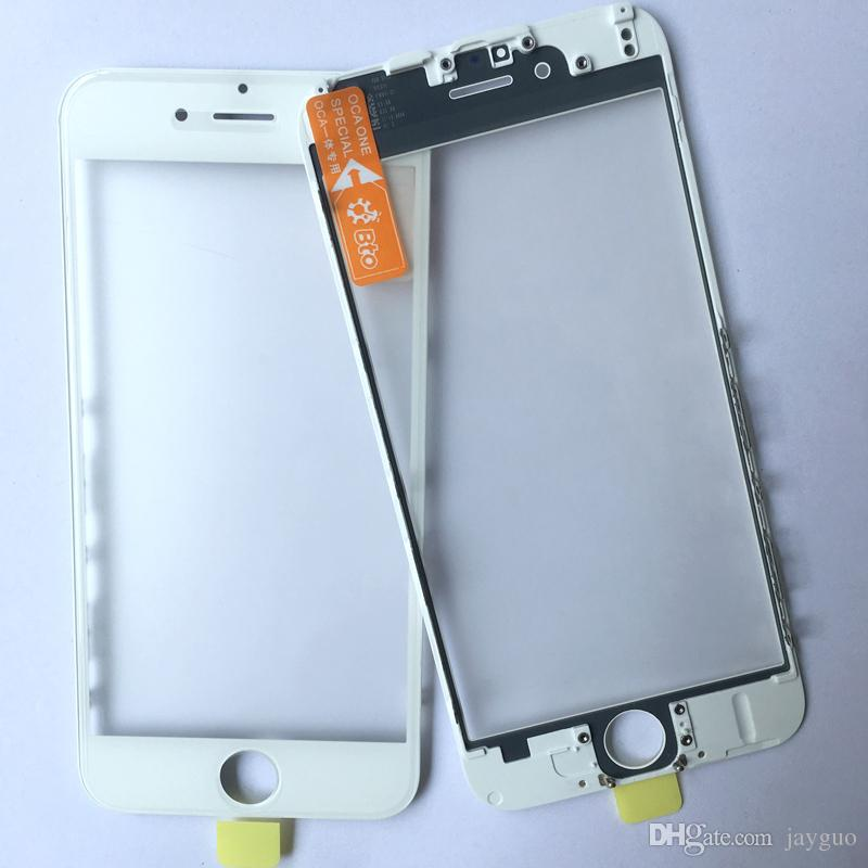 OEM cold press 3 in 1 Front Screen Glass With Frame OCA For iphone 6 plus 6s 7 plus repair Replacement