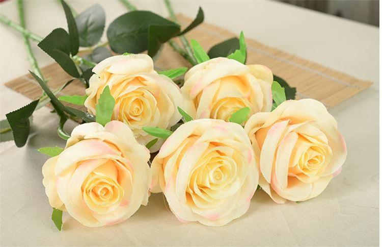 All'ingrosso-artificiale rose Fiore Falso seta singolo rose multi colori la cerimonia nuziale del partito della casa Centrotavola Fiori decorativi A0744