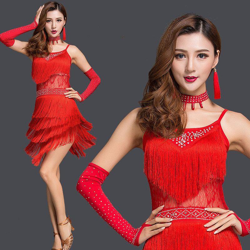2019 2017 New Latin Dance Dress Sexy Adult Sexy Suspender Diamond Tassels  LRumba Tango Sasa Samba Ballroom Costumes Competition Clothing From Lanuer 7ac0c835d9b1