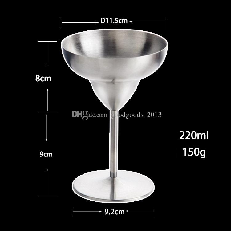 Bicchiere da vino in acciaio inox Bicchiere da vino Bicchiere da cocktail Bicchiere da cocktail Martini Bicchiere da cocktail Bicchiere da birra in vetro Margarita Bicchieri 30 pezzi b1267