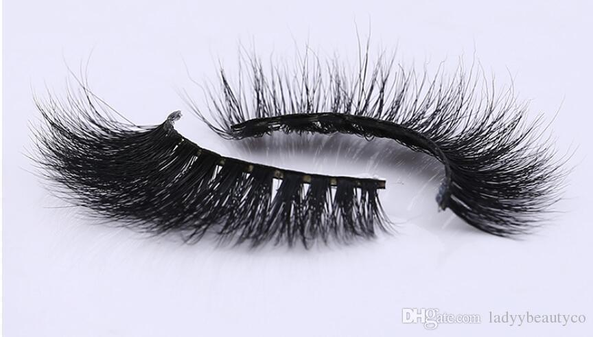 Pestañas de visón 3D 100% visón siberiano Ojo falso pestañas Nuevo desordenado de lujo 3D Pestañas falso Pestaña falsa pelo de visón falso pestañas 3D tira