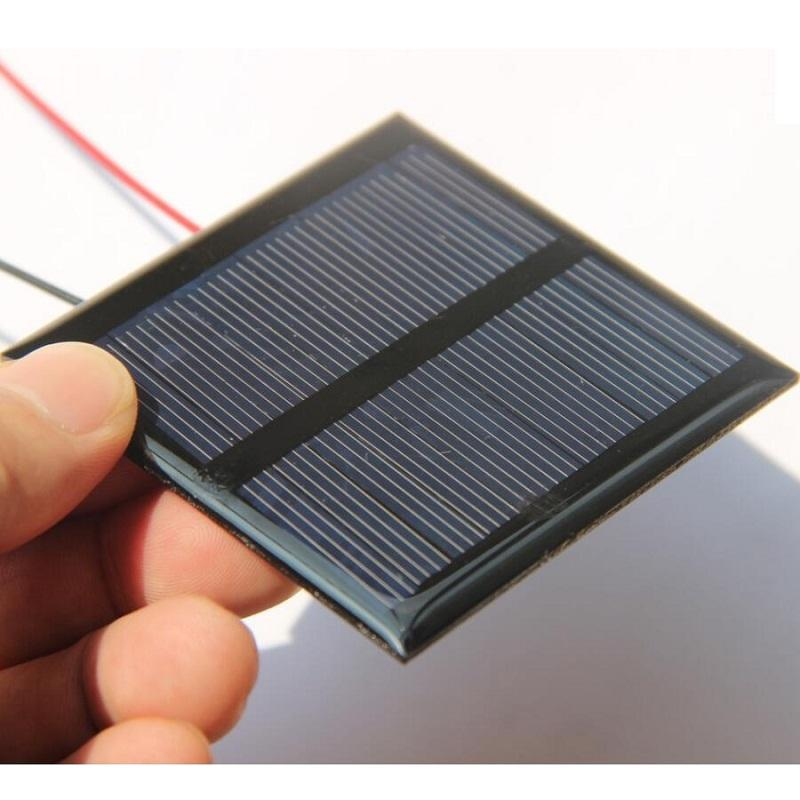 BUHESHUI 0.6W 5.5V Solar Cell Polycrystalline Solar Panel DIY Solar Charger For 3.7V Battery+Cable/Wire Education Kits Epoxy