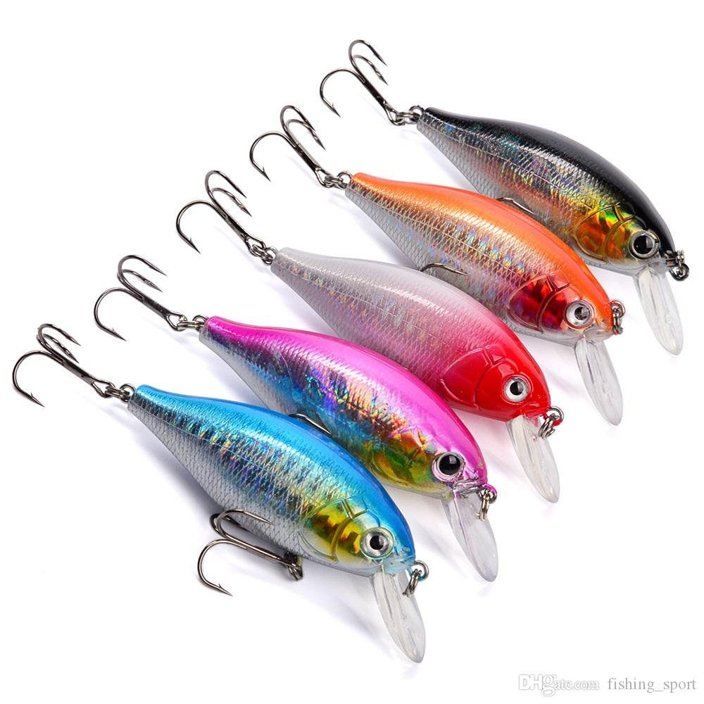5-color 7cm 13.24g Crank Plastic Hard Baits & Lures Fishing Hooks 6# Hook Artificial Bait Pesca Fishing Tackle Accessories