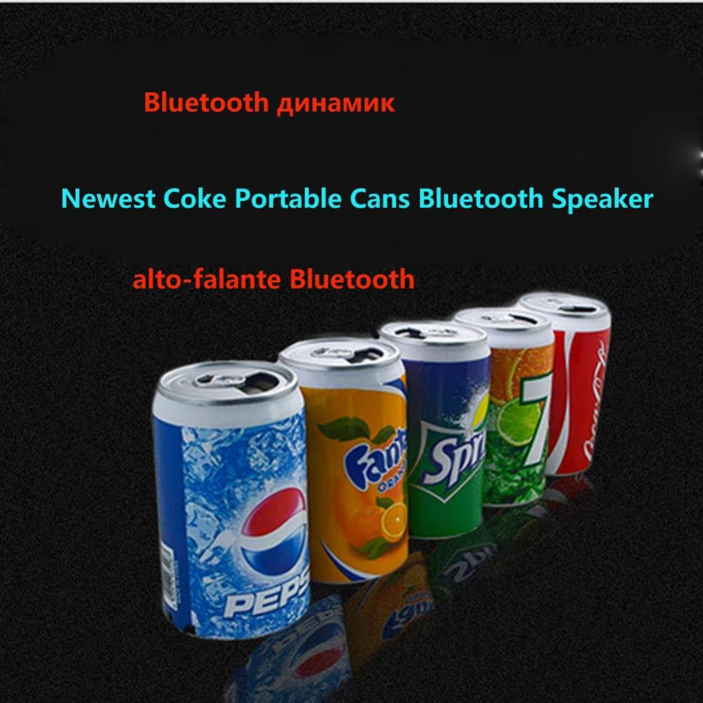 Wholesale- New Metal Beer cans usb Mini Bluetooth speaker Beverage cans Mini Speaker Portable TF Card Speaker with FM Radio for iphone 6 7s