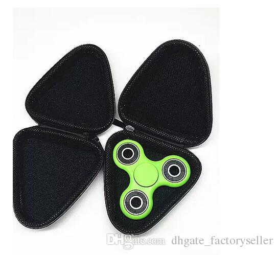 Top Quality Fidget Spinner Pouch Hand Spinner Toys Bluetooth Headset Storage Bags Compressive Container Portable Cases DHL Free