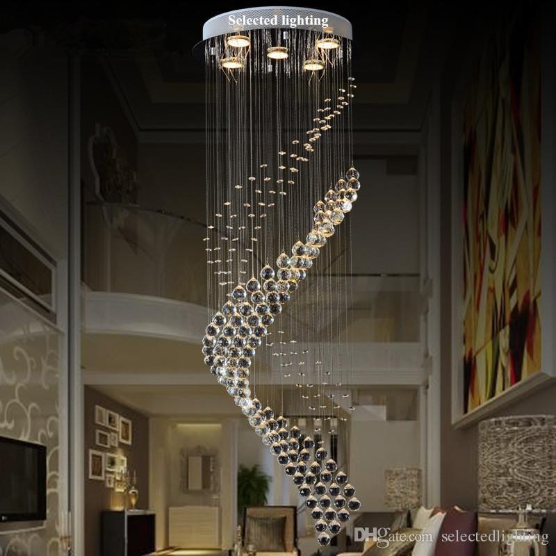 Led Rain Drop Crystal Balls Cylinder Flush Mount Ceiling Chandelier Lighting  Fixture For Dining Living Room Bedroom Chandelier With Fan Girls Room ... Part 44