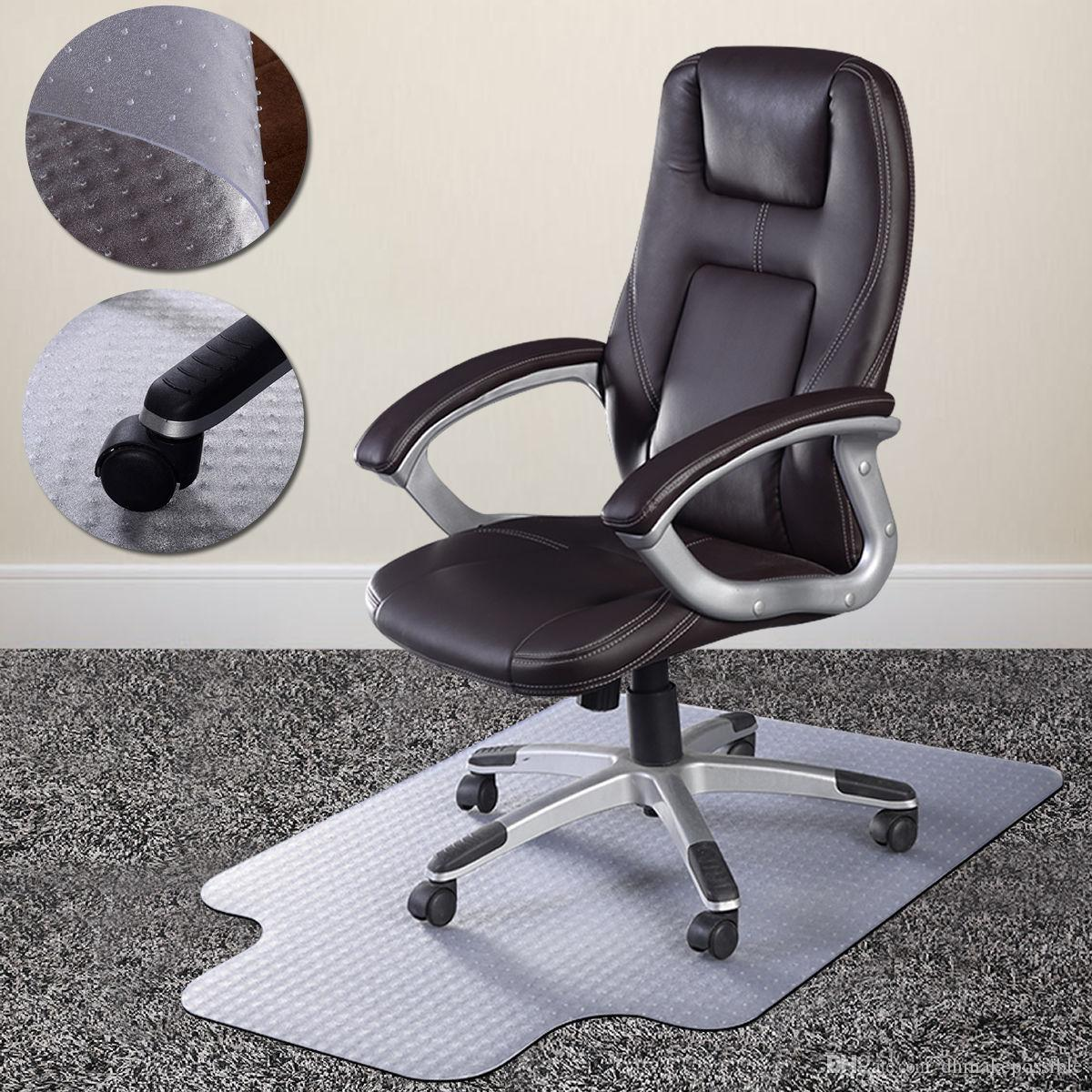 Pvc Home Office Chair Floor Mat Studded Back With Lip For Standard