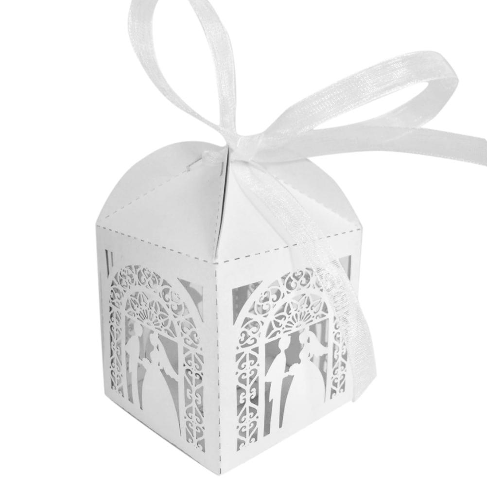 Event Party Supplies Paper Boxes For Married Ribbon Wedding Favors ...
