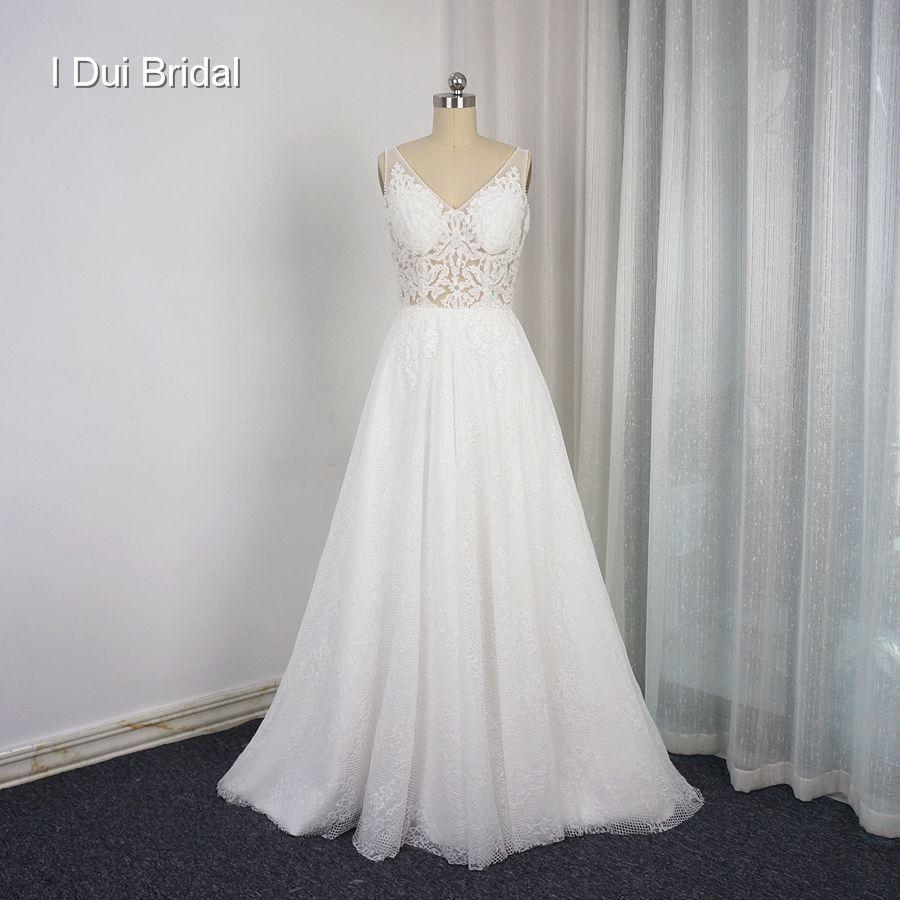 Discount Robe De Mariage Vestido De Novia A Line Light Lace Wedding ...
