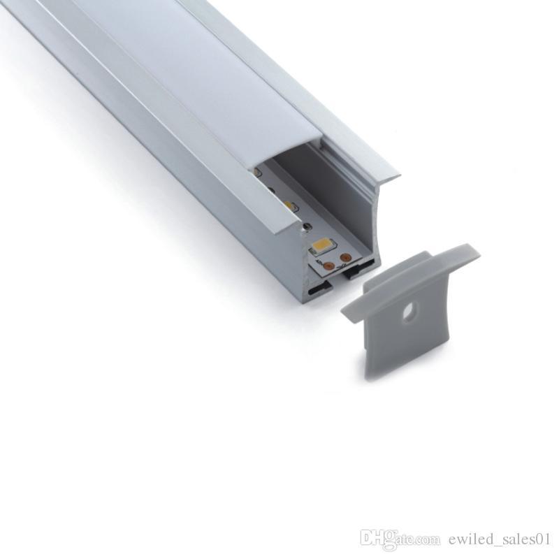 50 X 1 M Sätze / Los Aufputzmontage geführt Aluminiumprofil und T-Typ Profilextrusion für Decken- oder Wandeinbauleuchte