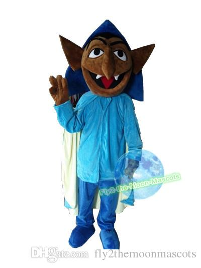 Custom Made 2017 Count Von Count Sesame Street Mascot Costume Vampire Halloween Mascot Costume Canada 2019 From Fly2themoonmascots Cad 255 51