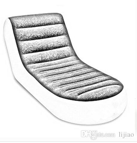 Deluxe Tek Akın Şişme Kanepe Tembel Kanepe, Arkalığı Uzanmış Sandalye Elektrikli Pompayı İçermiyor
