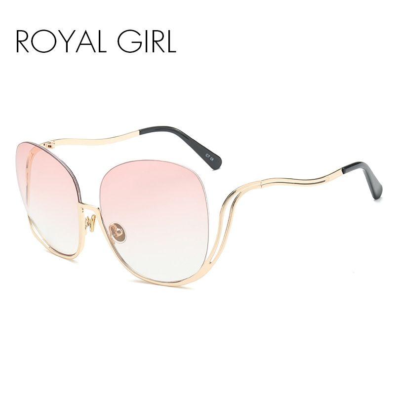 64b8846de5f ROYAL GIRL Women Oval Rimless Sunglasses Retro Semi Rimless Female Sun Glasses  Gradient Lens Brand Designer Ss015 Sunglasses Online with  15.03 Piece on  ...