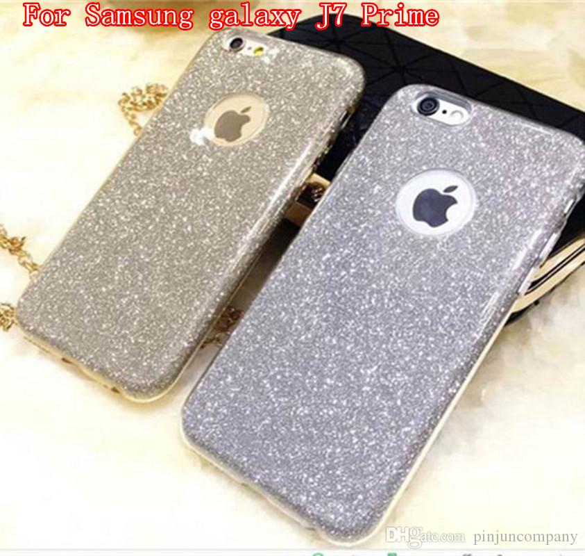 fffe204968 Ultrafine clear rubber soft glitter stickers TPU + PC For Samsung galaxy J7  Prime S6 edge S6 case phone protection shell opp bag packing