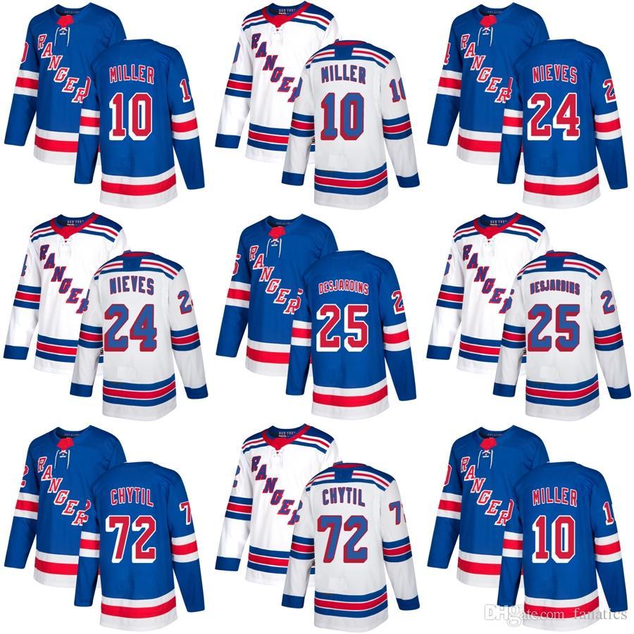 Cheap 2018 2017 New Brand Mens New York Rangers 10 J.T. Miller 24 Cristoval  Nieves Andrew Desjardins Filip Chytil Blue Hockey Jerseys 10 J.T. Miller 24  ... e93eb6c1f