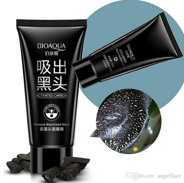 BIOAQUA Marque Soin du Visage Aspiration Masque Noir Masque Facial Nez Remèdes Comprimé Peeling Peel Off Tête Noire Traitements contre l'acné 60g Free DHL