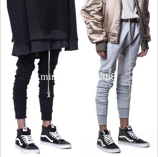 Streetwear Black Grey Latex Leggings Men Track Harem Drawstring Pants Urban  Clothing Kanye West Fog Skinny Sweatpants Joggers UK 2019 From  Mingxinmaoyi888 287133b877f8