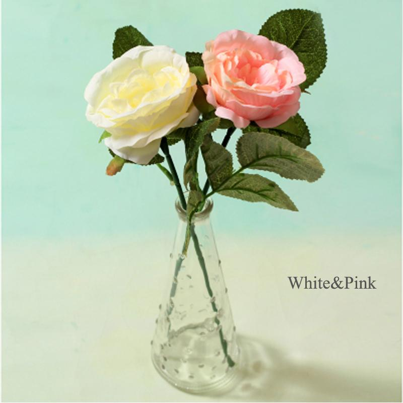 Mini flowers roses in the glass flower vase artificielles real touch flowers silk flowers for home decoration flores artificiais para fleur & 2019 Mini Flowers Roses In The Glass Flower Vase Artificielles Real ...
