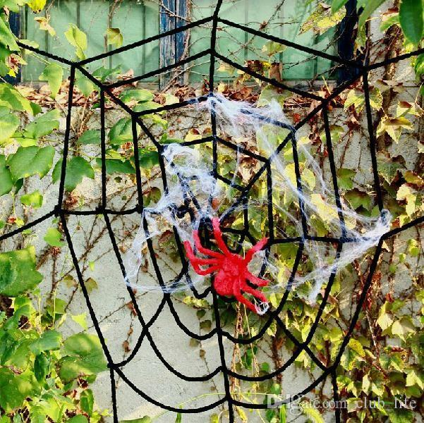 2017 HOT Bar Party Haunted House Halloween Decoration Props Stretchable Spider Web Silk Cotton With Spiders kids party House