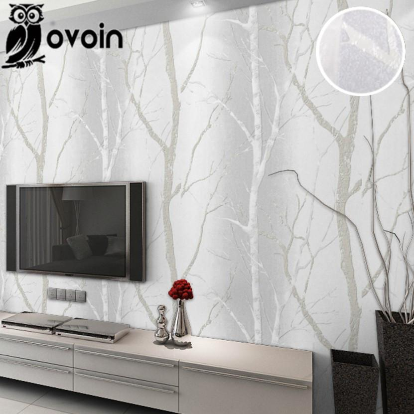 Great Grey Beige Minimalist Nature Birch Tree Forest Woods Wallpaper Wall  Coverings Modern Design Bedroom Wall Paper For Living Room I Wallpaper Hd I  Wallpapers ... Part 29