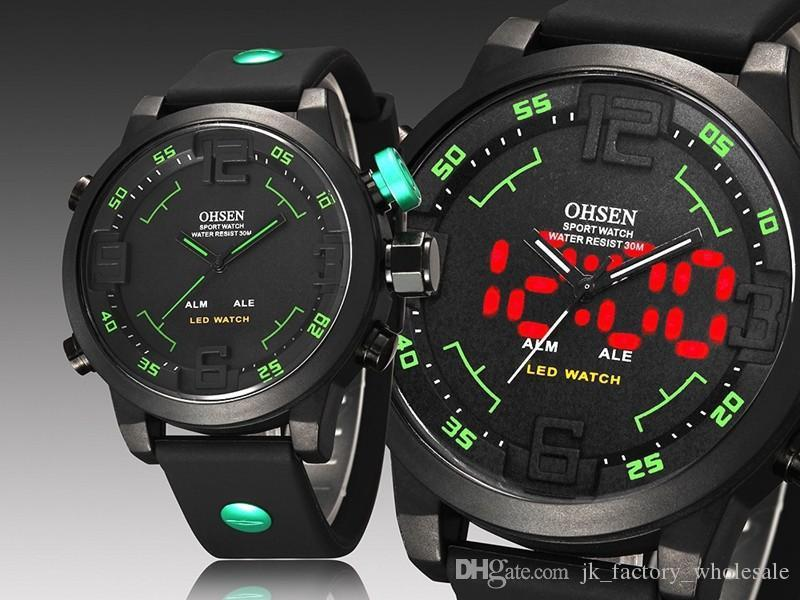 6a209c521fd OHSEN Led Digital Watch Analog Quartz Watch Sports Watches Men Waterproof  Relogio Masculino New Fashion Casual Wristwatches Wholesale Online Shopping  ...