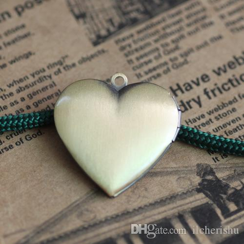 25*26*6MM Silver/antique bronze/rose gold/black gun heart photo locket charm jewelry, diy filigree metal picture frame pendants wish box