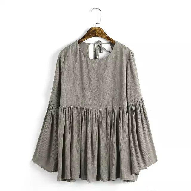 2a74f901894 Wholesale New 2017 Brand Cotton Linen Shirts Women Long Sleeve Cotton Linen  Clothing Shirt