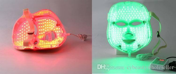 Белизна или золото 7 цветов фотон PDT вело красивейшую лицевую маску Подмолаживание кожи Маски удаление морщинки электрическая машина внимательности кожи Маска Сид анти -- вызревания
