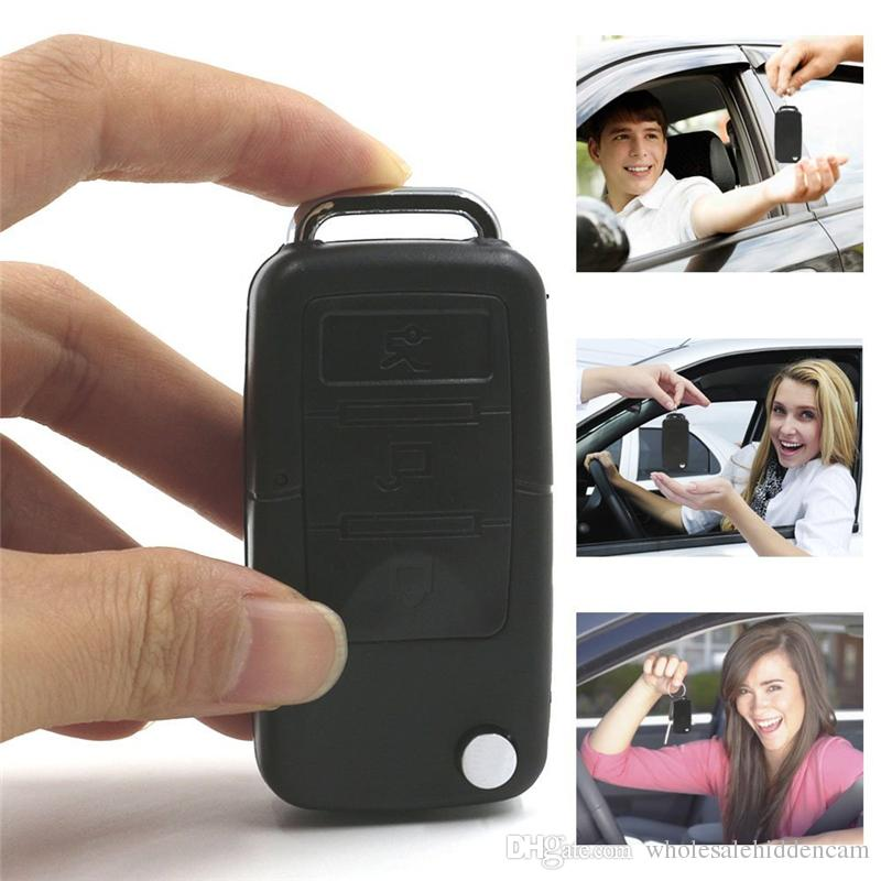 HD Car Key Chain Camera Security DVR Video Recorder Nanny Cam Mini Car Keychain DVs Poratble Camera Mini Pocket Cam