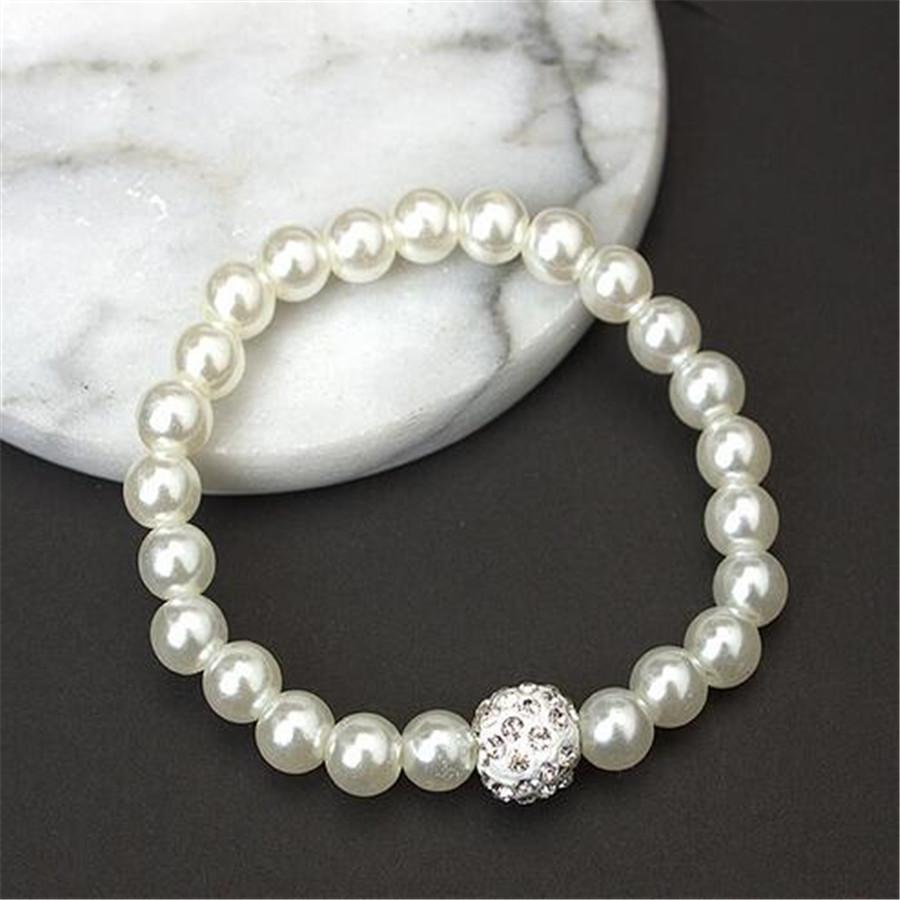 Jewelry Fashion Pearl Wedding bride Jewelry Set Necklace Earring With Bracelet Woman Statement Collar Necklace Y-jn04