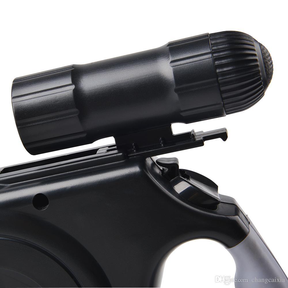 20 قطعة / الكثير العلامة التجارية الجديدة وصول 5M ABS المواد التلقائي قابل للسحب الكلب المقاود الرصاص مع مصباح يدوي بقيادة الولايات المتحدة