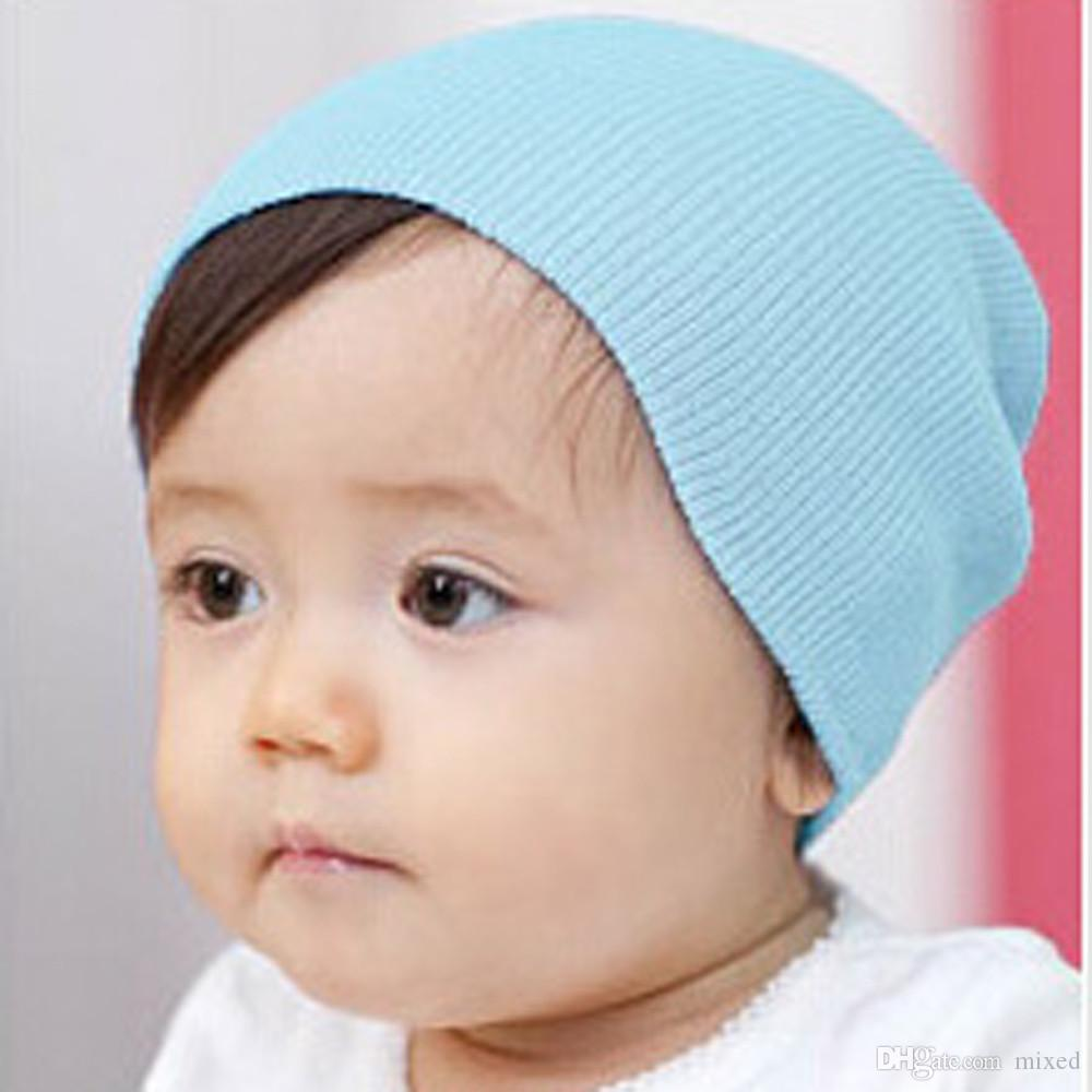 Autumn Warm Cotton Baby Girl Boy Toddler Infant Kids Caps Soft Hat Candy Colors Lovely Baby Beanies Accessories