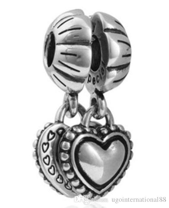 Wholesale Family Crystal & Silver Charm Beads Sweet Mother Sister Pendant Fit European Pandora Charms Sterling Bracelet & Necklace