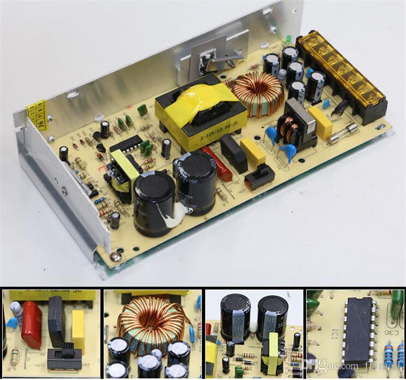 12 V 6A 10A 15A 20A 25A 30A aydınlatma Transformers LED Sürücü Güç Adaptörü Şeritleri Için Led Trafo Güç Kaynağı ışıkları Led Modülleri