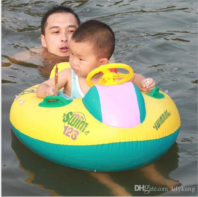Sicurezza del bambino Anello infantile di nuoto del bambino gonfiabile piscina giocattolo nuotata Sedile barche Anello Piscina scoperta Parasole di nuotata del bambino di galleggiante della sede della barca con il parasole