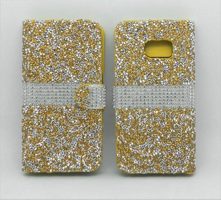 Para LG A30 K20 PLUS lv5 J7 2017 Perx J727P Sky Pro Bling del Rhinestone del diamante de la caja del cuero del soporte del tirón J3 primer MetroPCS lujo Alcatel feroz