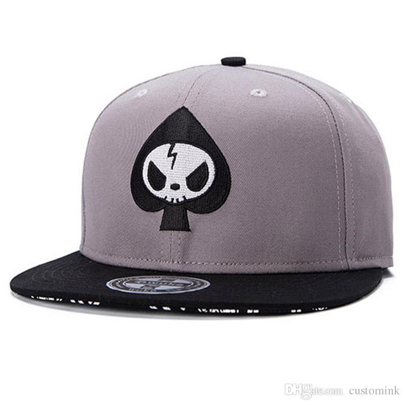 Fashion Street Adjustable Flat Peak Caps Whole Fashion Hat Skull Head  Snapback Cap Men Women OEM Adult Hip Hop Baseball Caps Canada 2019 From  Customink e203b3c365a